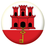 Gibraltar Island Flag 58mm Button Badge
